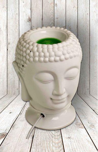 Buddha head lamp en geurbrander