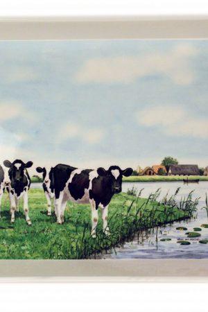 Koeien dienblad Wiebe van der Zee