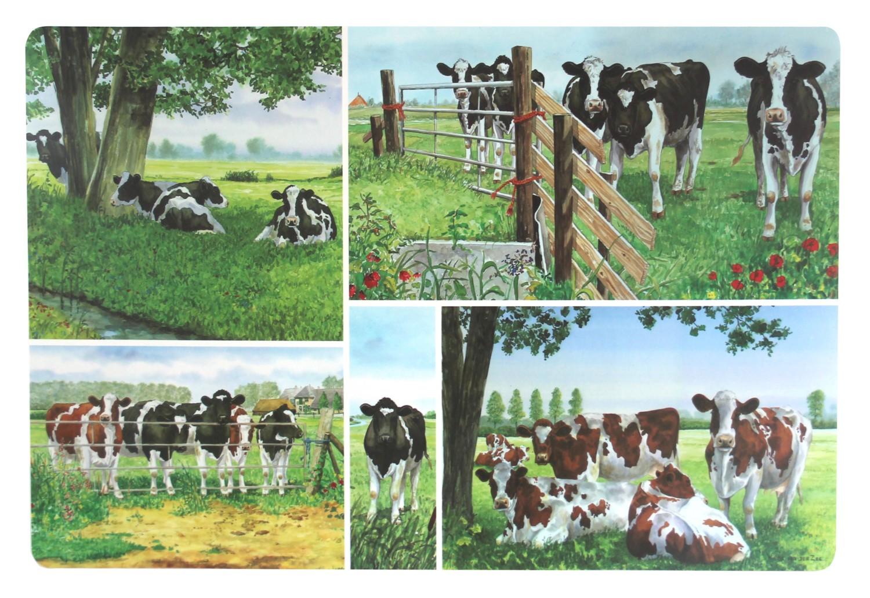 Koeien placemats Wiebe van der Zee