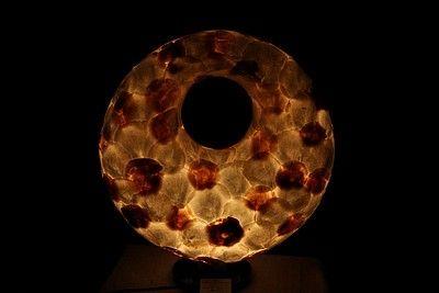 Handgemaakte donutschelpenlamp uit Indonesië