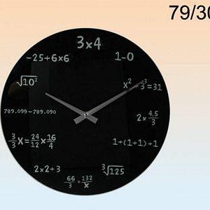 Glas klok wiskunde 35 cm