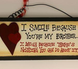 handgemaakt houten tekstbord 'Brother'