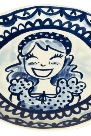 Blond Amsterdam Delfts Blond Dinerbord - Ø 26 cm - Meisje