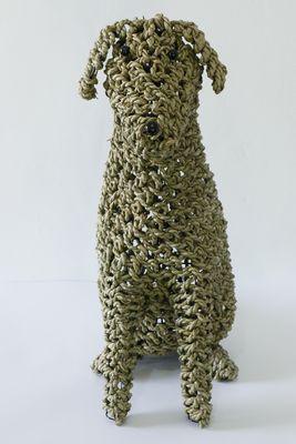 handgevlochten uit Indonesië Ropim@l hond naturel, maat L