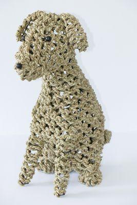 handgevlochten uit Indonesië Ropim@l hond naturel, maat M