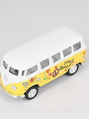 VW busje Flower Power geel 1962