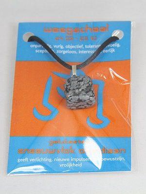 Gelukssteen hanger sneeuwvlok obsidiaan weegschaal