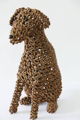 Ropimal touwgras hond bruin L handwerk Indonesië