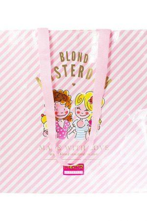 Big Shopper Blond Amsterdam pink stripe