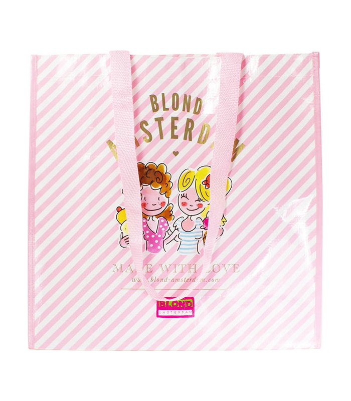 Big Shopper Blond Amsterdam pink stripe
