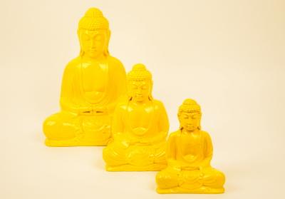 Kleuren Buddha geel (diverse afmetingen)