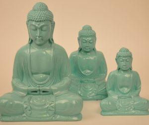 Kleuren Buddha mintgroen (diverse afmetingen)