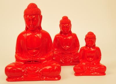 Kleuren Buddha rood (diverse afmetingen)