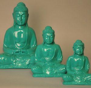 Kleuren Buddha turquoise (diverse afmetingen)