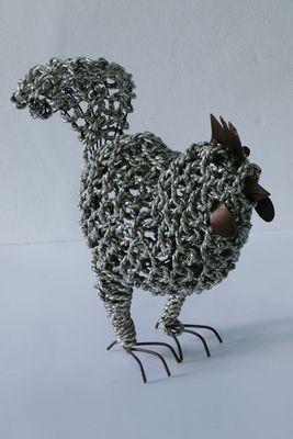 Ropimal touwgras kip zilver handwerk Indonesië