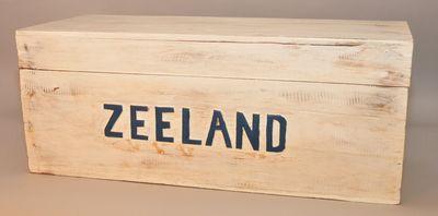 Houten kist 'Zeeland' handwerk Indonesië