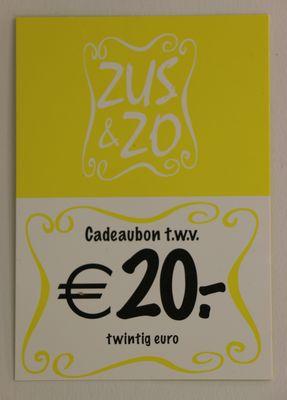 Cadeaubon Zus & Zo €20