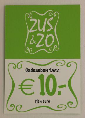Cadeaubon Zus & Zo €10