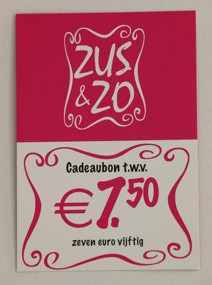 Cadeaubon Zus & Zo €7,50