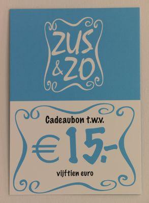 Cadeaubon Zus & Zo €15