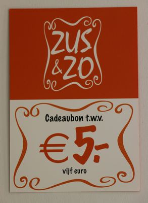 Cadeaubon Zus & Zo €5