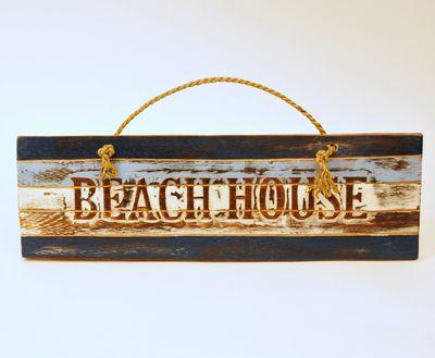 Houten tekstbord Beachhouse