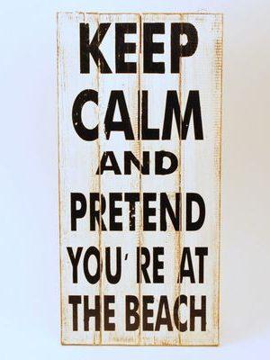 tekstbord Keep calm...houten handgemaakt tekstbord Keep calm