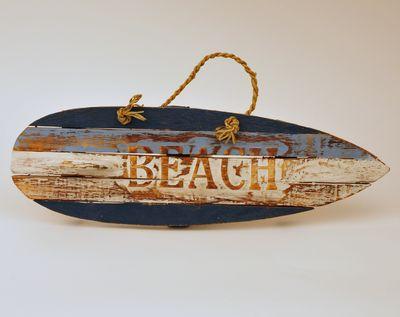 Houten tekstbord surfplank