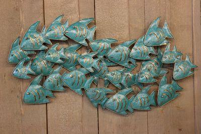 school vissen wanddecoratie turquoise zus amp zo oostburg
