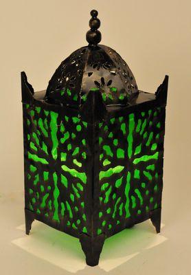 Metalen oosterse lamp groen