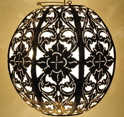 Oosterse bol lamp wit
