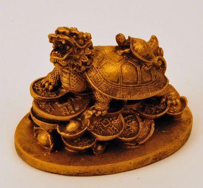 Schildpad Draak rijkdom goud