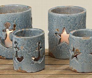windlicht blue terracotta ster of anker 2279100