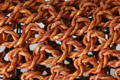 Ropimal teckel oranje maat S, M of L, handwerk-Indonesië