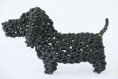 Ropimal touwgras teckel zwart handwerk Indonesië