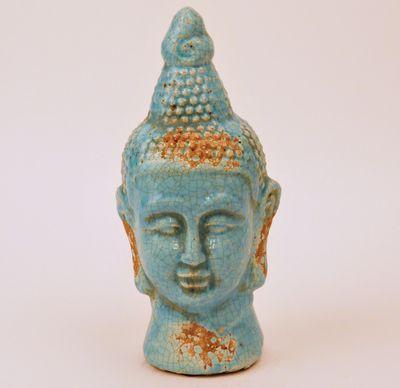 Buddha aardewerk turquoise