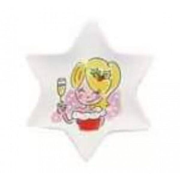 Blond Amsterdam Kerst 12cm bordje Girl