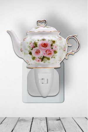 Nachtlampje Teapot Pink Bouquet - Night Light Collection
