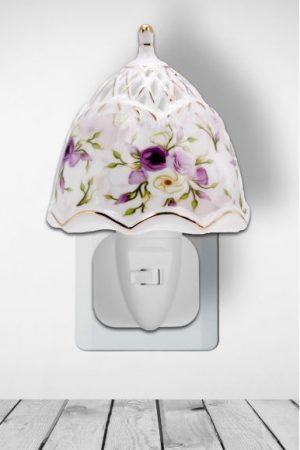 Nachtlampje Purple Flowers - Night Light Collection