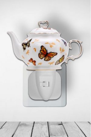 Nachtlampje Teapot Buttterfly - Night Light Collection