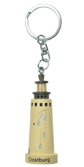 Houten handgemaakte Watertoren Oostburg sleutelhanger