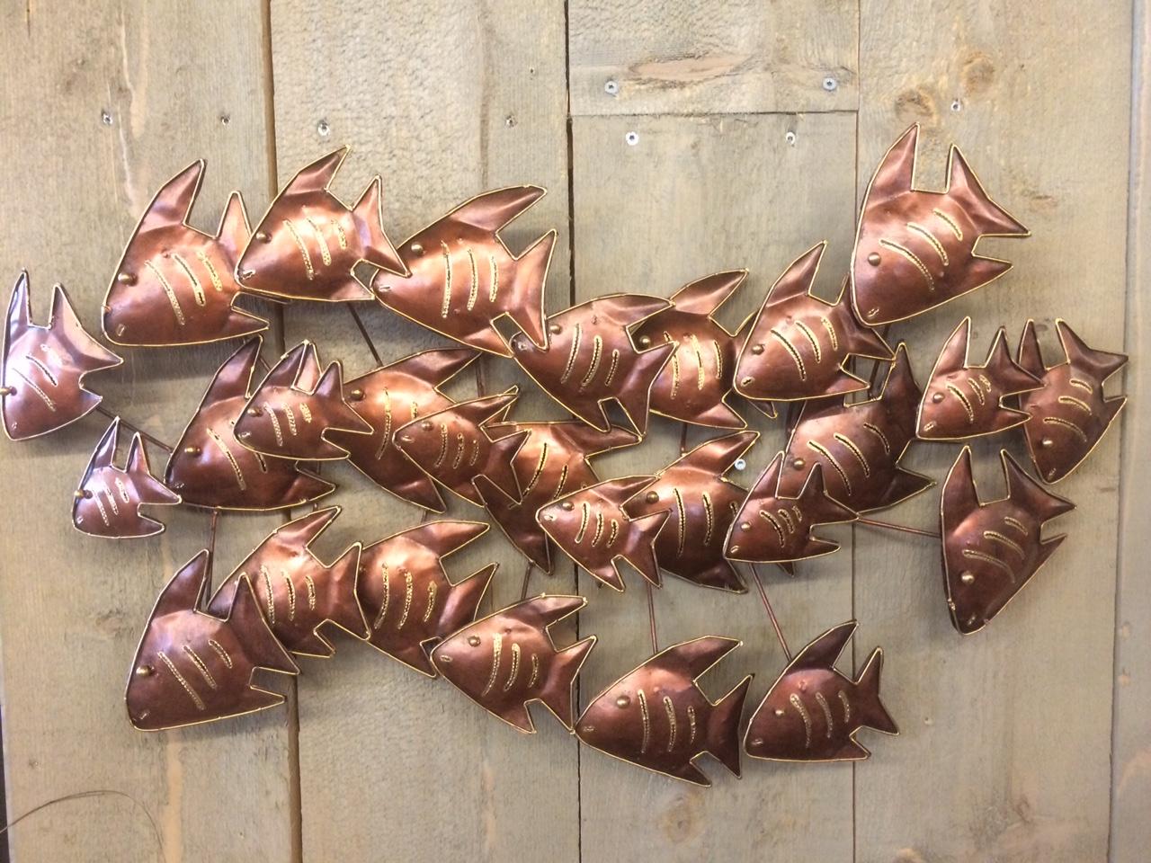 school vissen wanddecoratie koper zus amp zo oostburg