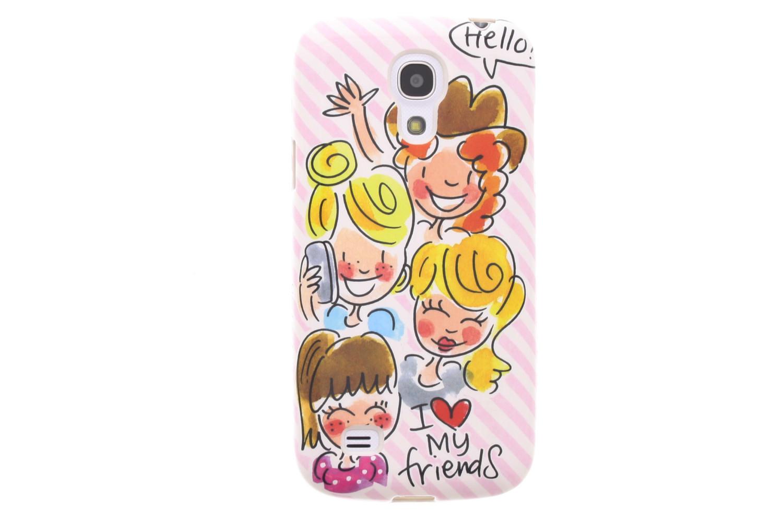 Blond Amsterdam telefoonhoesje voor de Samsung Galaxy S4 Mini - 'I love my friends'