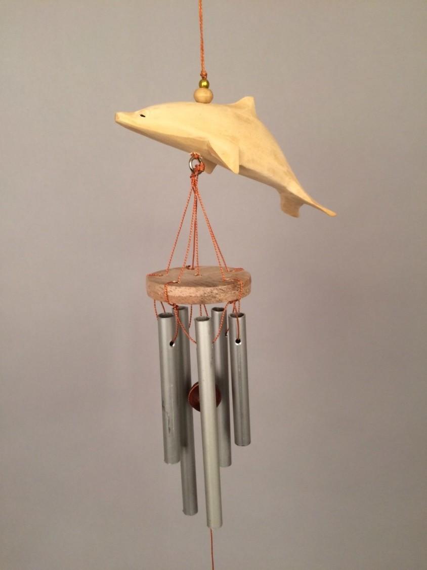 Dolfijn houten windgong