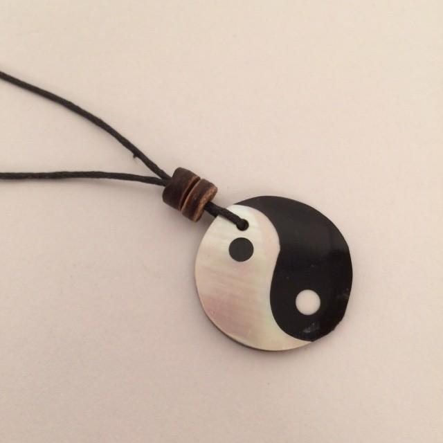Yin Yang ketting, handgemaakt in Indonesië