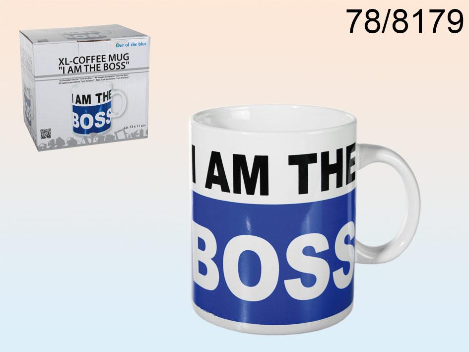XL koffie beker 'I am the boss'