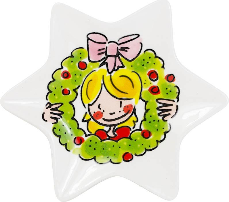 Blond Amsterdam kerstbordje 12cm girl 2