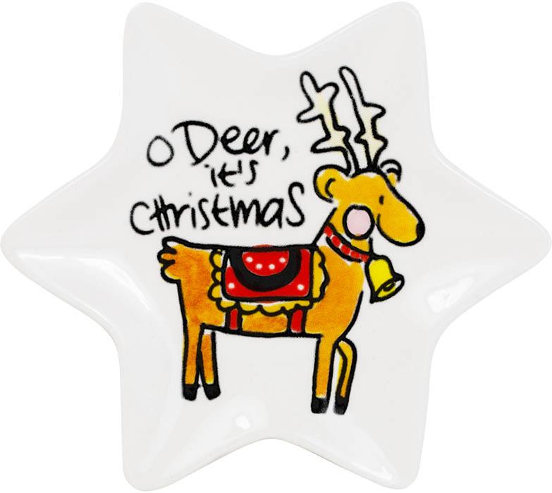 Blond Amsterdam Kerst 12cm bordje O deer
