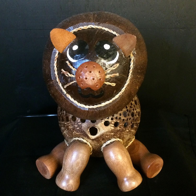 Kokosnootlamp leeuw