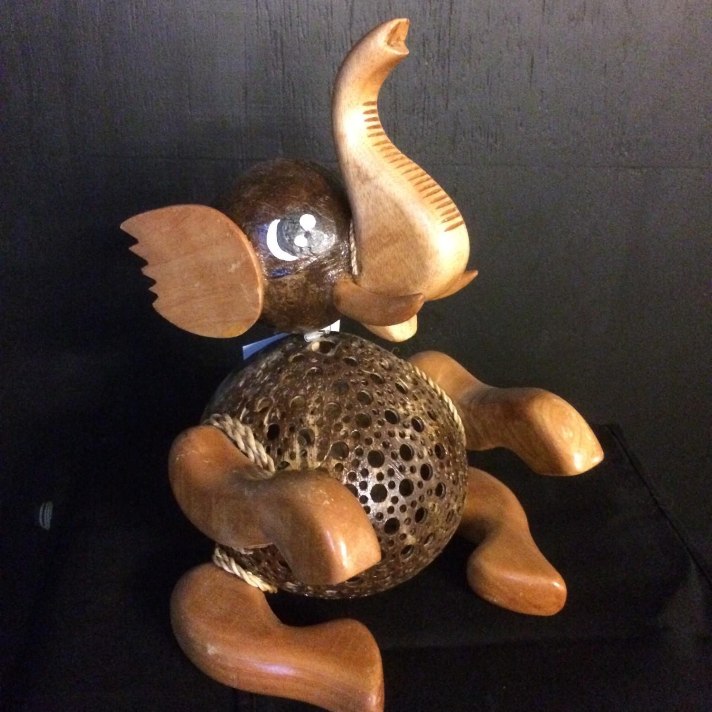 Kokosnootlamp olifant